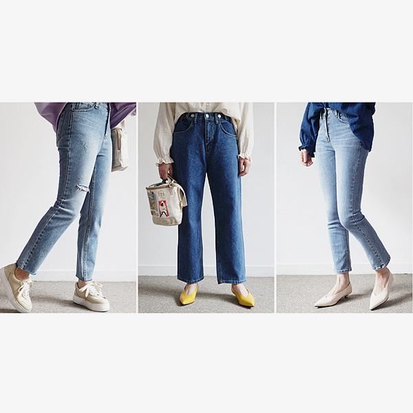 3 styles of jeans